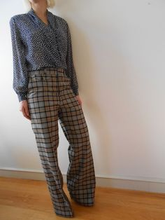 There is something so ultra real and timeless about wool and trousers