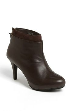 Chocolate brown bootie