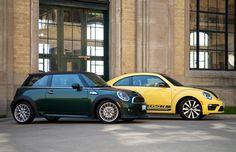 Two Takes: 2013 Mini Cooper S vs. Volkswagen BeetleGSR   Credit: Nick Tragianis