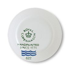 Royal Copenhagen - 'Fluted Signature' Collection - Lunch Plate, 22 cm