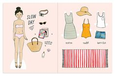 Full color spread for the Dutch Magazine  Flow . The paper doll can be cut out along with the clothing and accessories.