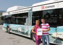 DB Schenker ist Bus des Monats der Progress Werbung Salzburg #aussenwerbung #outofhomemagazin Salzburg, Advertising