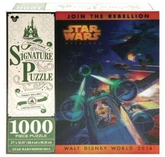 Now in stock!! 2014 Disney Star Wars Weekends Exclusive Lenticular X-Wing Mickey Logo Puzzle