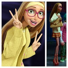 Honey Lemon - Big Hero 6 - The pic on the right is my favorite outfit of hers in the movie.