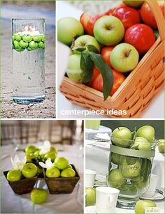 """Fresh Apple Party"" Centerpieces  (Simply Stated, Real Simple blog)"