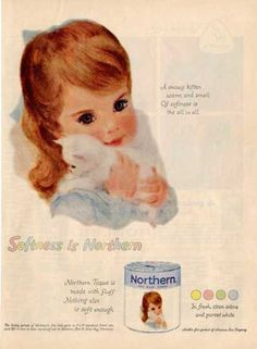 Northern Towels Little Boy Advertisement Wall Decor Magazine Print Page Ad Artist Francis Hook Childrens Room Wall Hanging
