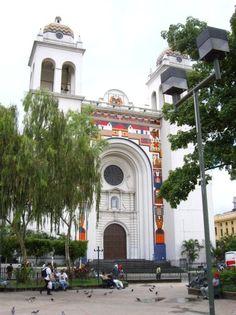 Big cathedral front, San Salvador, El Salvador
