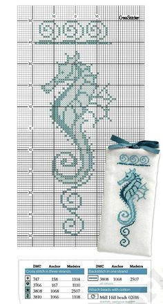 Sea Horse Free Cross Stitch Pattern Chart