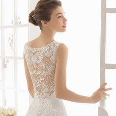 A collection of stunning Lace Back Wedding Dresses( Gown by Aire Barcelona 2016)