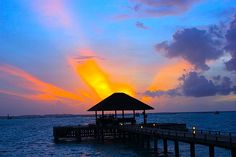Sunset in the Maldives.