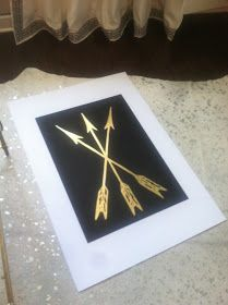 Confetti and Stripes: gold leaf art