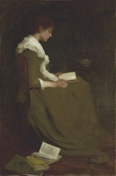 Isabel Codrington (1874-1943) | Girl reading | Paintings, oil | Christie's
