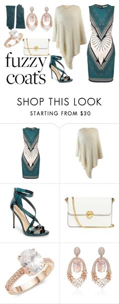 """When it Gets Cold..."" by saladra ❤ liked on Polyvore featuring Versace, Imagine by Vince Camuto, Tory Burch, Saks Fifth Avenue, Hueb and Lord & Taylor"