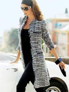 coat; black & white