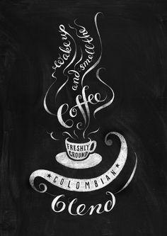 Chalkboard coffee poster self promo on Behance - coffee bar - Coffee Chalkboard, Blackboard Art, Chalkboard Lettering, Chalkboard Designs, Chalkboard Poster, Coffee Signs, Coffee Art, Chemex Coffee, Coffee Time