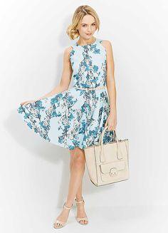 Closet Floral Printed Tea Dress