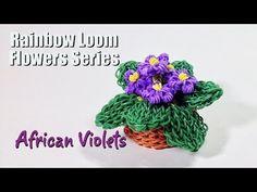 Rainbow Loom Flowers Series: African Violets