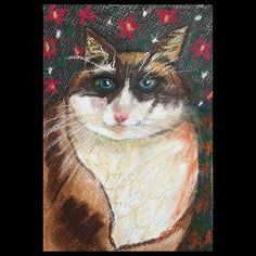 Retrato de gato señorial en pastel, acuarelas  y otros colores. Collages, Facebook Sign Up, Pastel, Painting, Art, Water Colors, Portraits, Kitty, Art Background