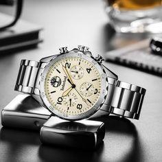 a789270b88e Timberland Mens Relógios Display Multifuncional Grande Mostrador do relógio  de Quartzo Calendário Dos Homens de Negócios Casuais Relógios T15015 -