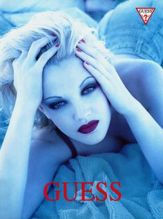 Drew Barrymore Guess ad......one of my all time favs of her!!!  @Veronica Almanza Saucedaónica Sartori Sanchez