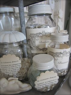I made some labels for all of my glass storage jars for The Where Bloggers Create party that I recently participated in.         I wanted t...