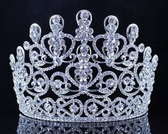Janefashions Sensational Clear Crystal Rhinestone Tiara Crown Bridal Prom Pageant T11883 ** You can find out more details at the link of the image.(This is an Amazon affiliate link and I receive a commission for the sales)