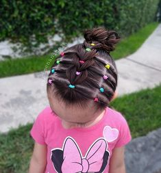 Image may contain: one or more people exterior and foreground Easy Toddler Hairstyles, Cute Little Girl Hairstyles, Flower Girl Hairstyles, Baddie Hairstyles, Cute Hairstyles, Braided Hairstyles, Rubber Band Hairstyles, Curly Hair Styles, Natural Hair Styles