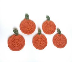 Check out this item in my Etsy shop https://www.etsy.com/listing/477983231/pumpkin-coasters-crochet-coasters-cotton
