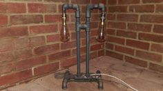 Vin-Dustrial Gas Pipe Desk Lamp The Silverback by TheGasline