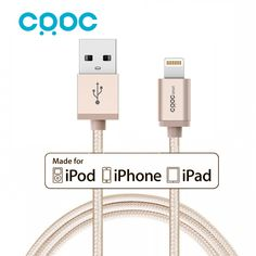 CRDC For MFi Certified USB Data Sync Charging Cable 1.2M Nylon 8pin Braided Charging Cable for iPhone 7 6s Plus iPhone 5s 4 iPad