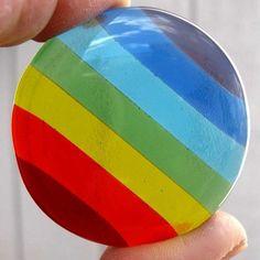 Glass Rainbow Rock Wishing Stone by AzureFire on Etsy, $12.75