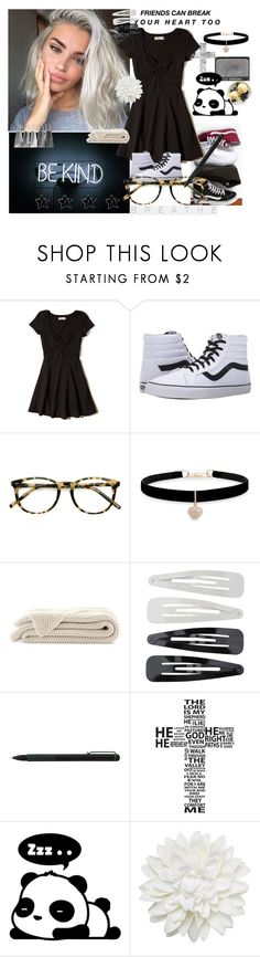 """""""106. just a regular wednesday"""" by lifeissweet170000 ❤ liked on Polyvore featuring GET LOST, Hollister Co., Vans, Ace, Betsey Johnson, NARS Cosmetics, Forever 21, IDEA International, WALL and Monki"""