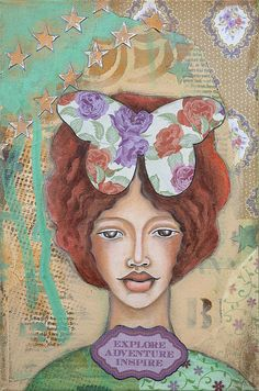 Explore Adventure Inspire Inspirational Art by Stanka Vukelić - LadyArtTalk  #art