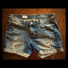 Gap 1969 denim shorts. Nearly new Gap 1969 distressed denim shorts. GAP Shorts Jean Shorts