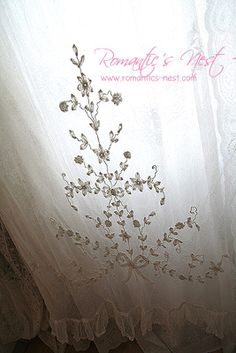 Antique French lace curtains