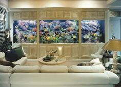 Aquariums are ideal in the N, E, and SE sectors of the home for career and money luck
