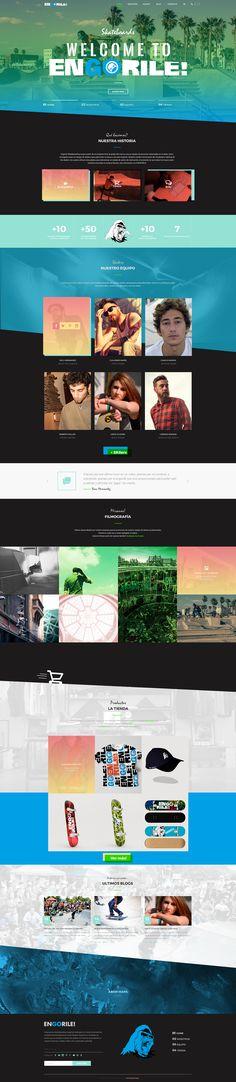 Echa un vistazo a mi proyecto @Behance: \u201cPROYECTO DE DISEÑO WEB - Engorile Skateboards\u201d https://www.behance.net/gallery/47052501/PROYECTO-DE-DISENO-WEB-Engorile-Skateboards