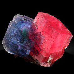 Fluorite and Rhodochrosite From Alma, Colorado