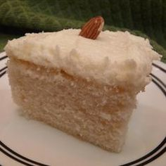 White Almond Wedding Cake, a friend said this is the best semi-homemade cake recipe