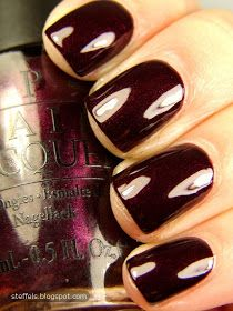 steffels.: OPI Black Cherry Chutney and BB Couture Erotic Night