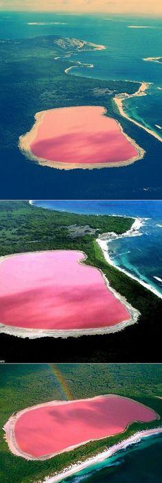 Bubblegum Colour Lake in Australia