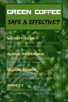 Green coffee: why is everyone talking about it? Are the benefits real? Is it safe? Let's take a look…  WHAT IS GREEN COFFEE ANYWAYS?  The concept of green coffee is pretty simple: unroasted or raw coffee beans. Coffee in general has many benefits, but green coffee is said to have even more.  Why?  Roasting the beans reduces their amount of chlorogenic acid.  Chlorogenic acid supposedly has a wide range of health benefits. Weight loss blood pressure blood sugar diabetes