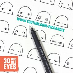 30 Cute / Kawaii Doodle Eyes :)   Watch it on YouTube - www.youtube.com/piccandle