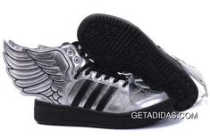 a3af11af6617 Adidas Jeremy Scott Wings 2.0 Plush Sheepskin Best Quality Special Offers  Silver Black Shoes Plush Sensory Experience TopDeals