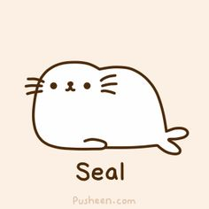 Pusheen the seal! Can I have your autograph?!?!?