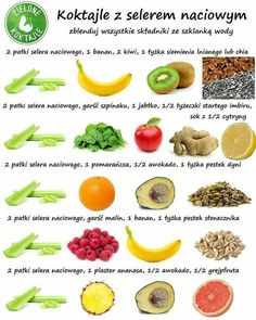 koktajl Healthy Cocktails, Healthy Juices, Breakfast Smoothie Recipes, Smoothie Drinks, Healthy Diet Recipes, Healthy Eating, Best Diets, Fitness Diet, Food And Drink