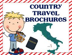Country Travel Brochure: Template and Internet Research Resources - Elementary Learning Solutions