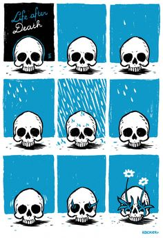 Life after Death comic by Michael Hacker, an illustrator, comic and gigposter artist based in Vienna, Austria.