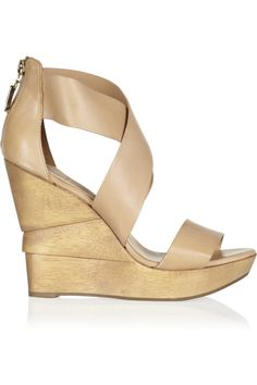 DVF nude leather wedges for long summer legs -- really need to find these shoes :)  Found on Zappos!