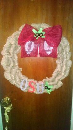 Ohio State Buckeye wreath Etsy.com/shop/2HeartsAs1